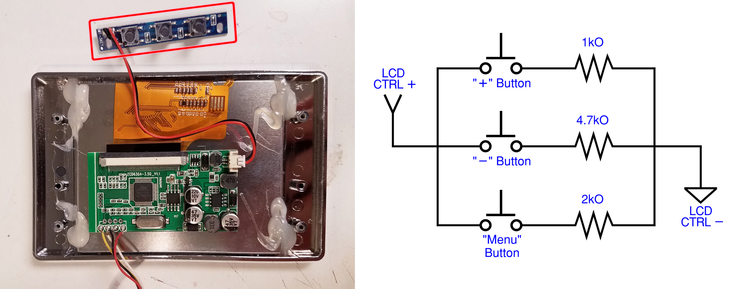 Sega Nomad Lcd Upgrade Part 2 Wr Labs Wiring Diagram Menu Sign Since The Buttons Are On A Separate Pcb I Decided To Discard It And Just Copy Its Design Into My New Circuit Rub However Is That Bjt Transistors