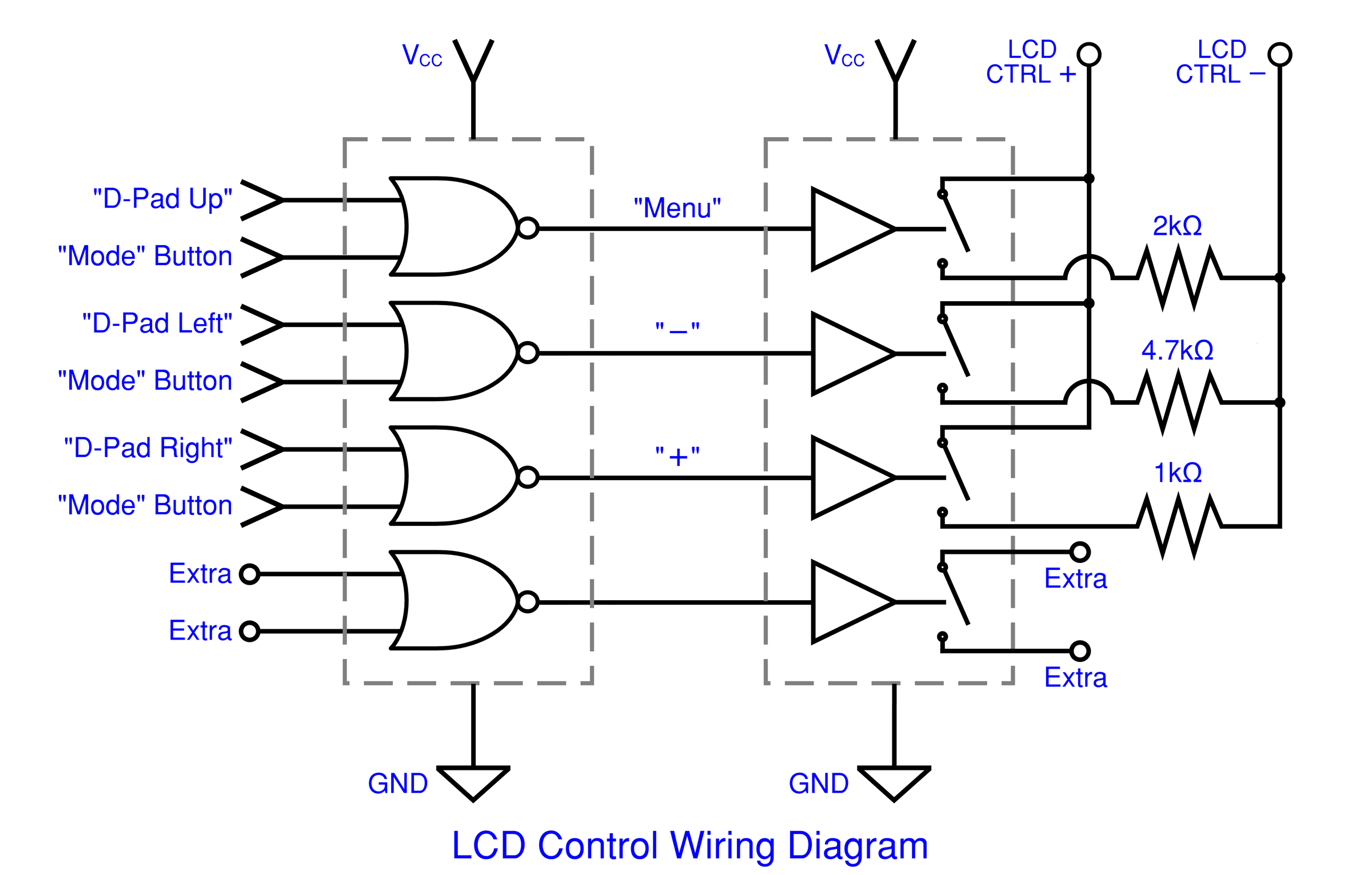Sega Nomad Lcd Upgrade Part 2 Wr Labs Wiring Diagram You Can Use Whichever D Pad Buttons Like For The Lcds Controls But This Is How Ill Be Them